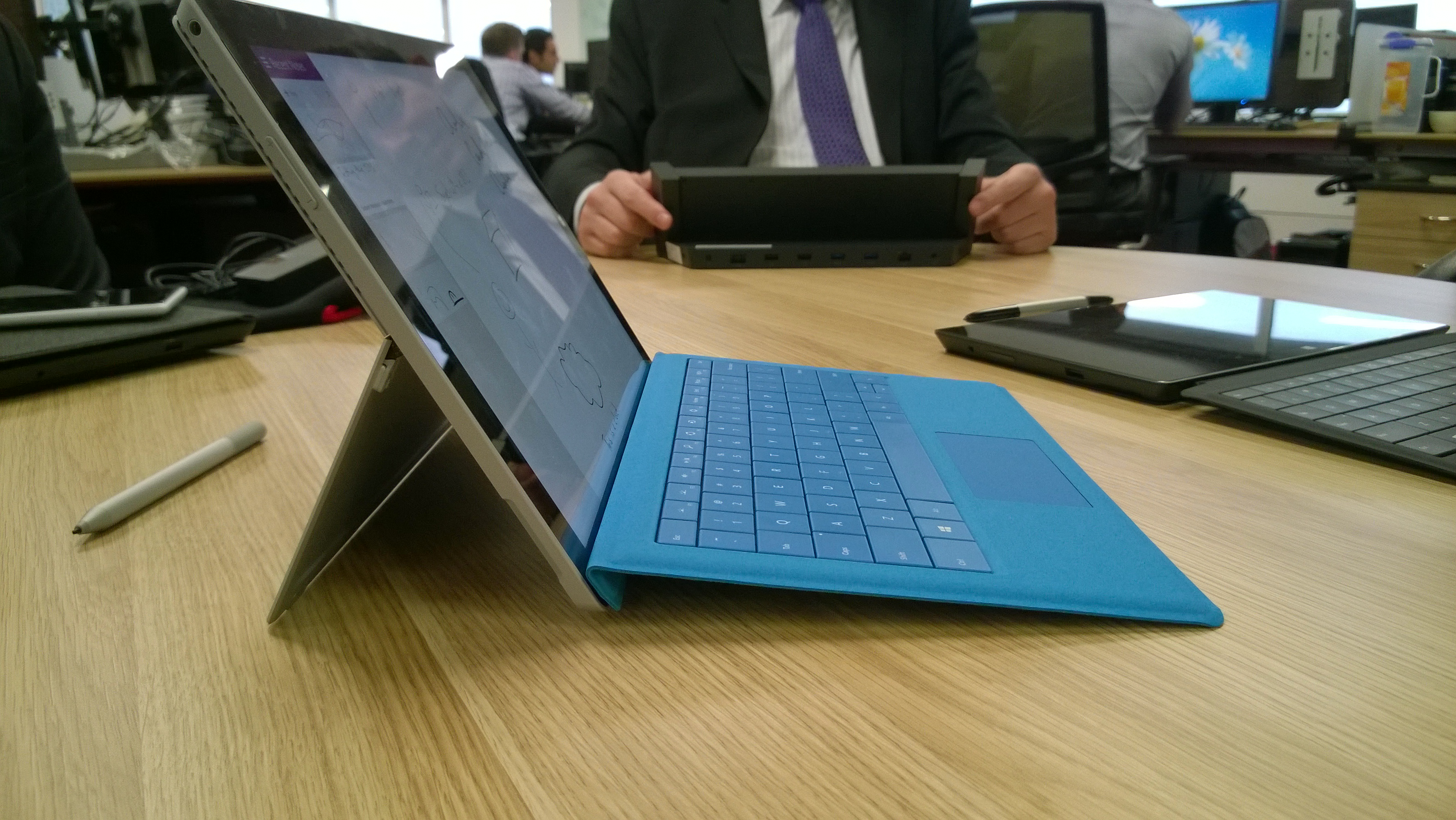 Surface Pro 3 kickstand and keyboard